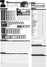 dnd 3 5 character sheet pathfinder d20 modern character sheet page 1 by kenmurikumo on