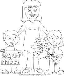 Festa Della Mamma Disegni Da Colorare Maestra Mary