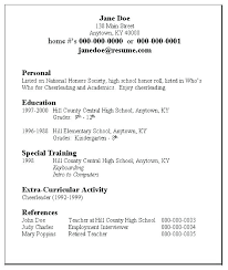 Resume Templates For College Students Student Example Sample Unique Resume For High School Students