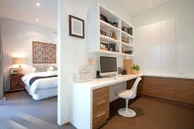 home office in master bedroom. Plain Home Contemporary Home Office Wooden Cabinets Bring Warmth To The In  White Next In Home Office Master Bedroom
