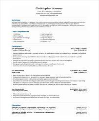 Receptionist Resume Template 8 Free Word Pdf Document
