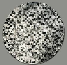 contemporary round rugs modern area grey black white plaited pattern adorable interesting cotton contemporary round rugs