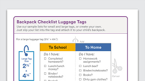 Checklist For School Printable Backpack Checklist For Your Child