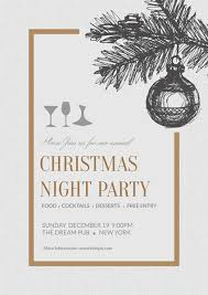 Simple Christmas Night Party Poster Template Template Fotojet