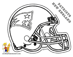 coloring pages of football teams