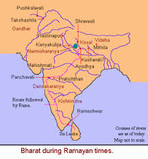 Map Of India During Ramayana And Mahabharata