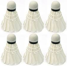 <b>6Pcs White</b> Goose Feather Badminton Shuttlecocks Outdoor Ball ...