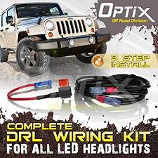 amazon com optix complete drl wiring adapter harness kit for 7 optix complete drl wiring adapter harness kit for 7 quot round led headlight daytime running