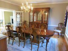 11 piece drexel herie dining room set with 8 chairs occasional use only
