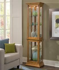 Corner Kitchen Curio Cabinet Pulaski Furniture Curios Estate Oak Curio Cabinet John V Schultz