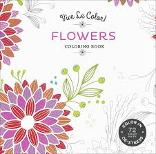 vive le color flowers coloring book