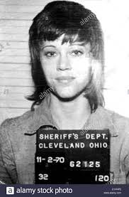 jane fonda mugshot stock photo royalty free image   alamy
