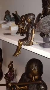 fine cast bronze fairy statue with erfly sculpture 5