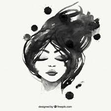 hand painted black woman free vector