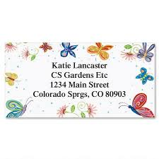 Labels With Border Floral Butterflies Border Address Labels