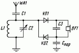 simplest detector radio circuit diagram crystal radio 2 simplest detector radio circuit diagram