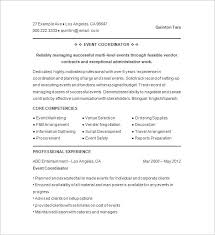 Events Manager Resume Example Sample Event Planner Resumes With