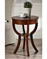 Cherry accent table Round Accent Leila Round Cherry Accent Table Amazing Deal On Leila Round Cherry Accent Table