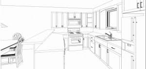 Contemporary Simple Kitchen Drawing L 322148550 Inspiration Decorating For