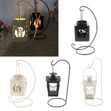 Iron Tea Light Holders Us 9 81 44 Off Wrought Iron Tea Light Candle Holder Hanging Candlestick Wedding Holiday Tabletop Decoration In Candle Holders From Home Garden On