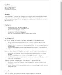 Resume Templates: Electrical Supervisor
