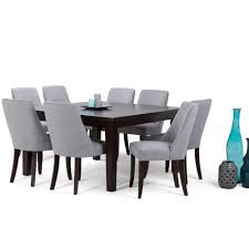 gray dining room table. Walden 9-Piece Java Brown Dining Set Gray Room Table G