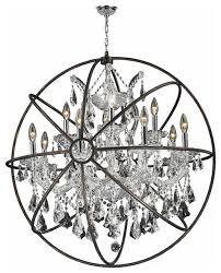 foucault s orb chandelier 13 light clear crystal