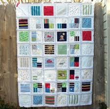Custom Memory Rag Quilt from YOUR Baby Clothes 48 X 64 FREE & Like this item? Adamdwight.com