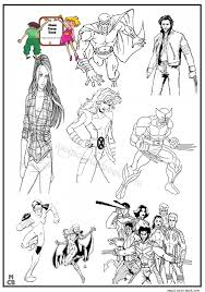 x men coloring pages free printable 20