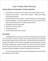 Sales Plan Document Sales Territory Plan Template Crescentcollege