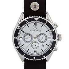 watches debenhams jeff banks designer men s black chronograph watch