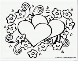 Small Picture Hearts And Roses Coloring Pages Printable Heart Coloring Page