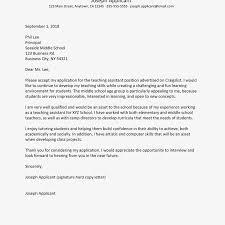 Volunteer Cover Letter Samples Teaching Assistant Cover Letter Samples With Cover Letter For
