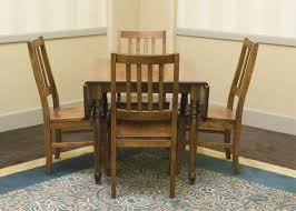 Kitchen Table Drop Leaf Kitchen Table 4 Chairs Mission Oak Dining Table Kitchen Table