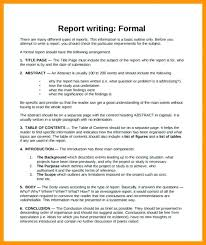 Business Report Format Example And Academic How To Write A