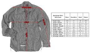 Tailored Sportsman Size Chart Tailored Sportsman Shirt Size Chart Edge Engineering And