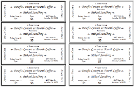 Benefit Ticket Template Event Ticket Template For Word Ticket Template Event