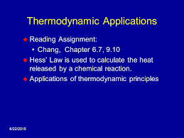 data table needed standard heats of formation problem set  6 22 2015 thermodynamic applications  reading assignment chang chapter 6 7