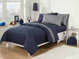 back to school dorm room sut twin extra long navy grey description set contains thread count cotton rich twin extra long flat s