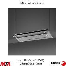 Máy hút mùi âm tủ Fagor 404.0007 mặt kính đen và viền inox