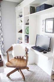 office shelves ikea. Office Makeover Reveal | IKEA Hack Built-in Billy Bookcases Shelves Ikea