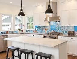 view in gallery cement tile patchwork backsplash kitchen jpg