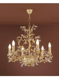 verdi 6 chandelier gold finish