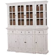 Hutch Display Cabinet Details About Large White Distressed Buffet Hutch Display Cabinet