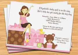 Cute Baby Girl Shower InvitationsHumorous Baby Shower Invitations