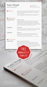Minimalist Resume Template Free Download Best Of Free Creative