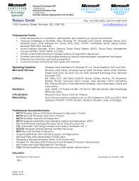 Computer Network Administrator Sample Resume Sample Resume For An