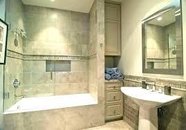 drop in bathtub designs built in shelves
