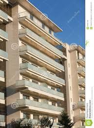 Open Balconies Modern Apartment Building Stock Photo Image - Modern apartment building facade