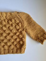 Hand Knitted Sweaters Designs For Baby Girl Hand Knit Bobble Sweater Baby And Toddler Sizes